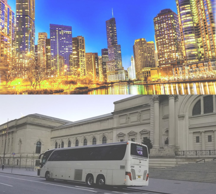 Charter Bus Rental from New York to Illinois