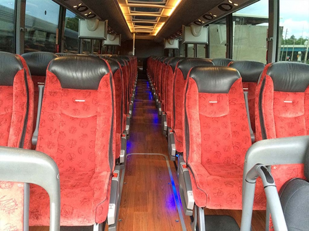 bus seats for group trips
