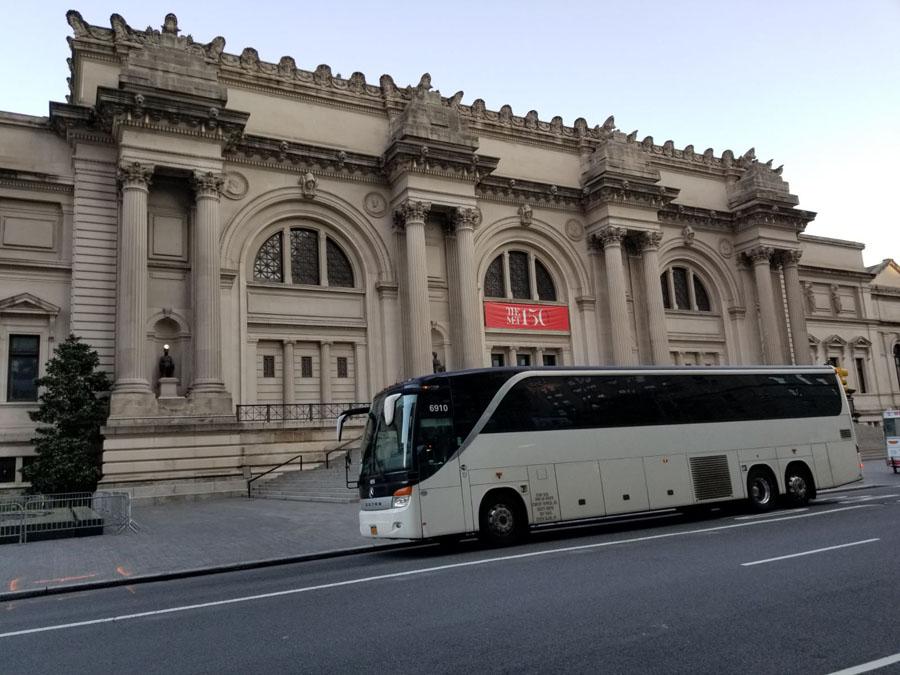 bus charter metropolitan museum of art